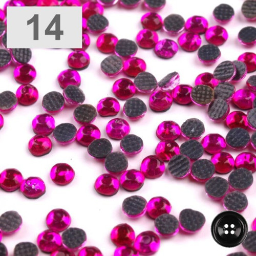 Šatonové růže HOT-FIX 2,7mm (1g,B) - fuchsia