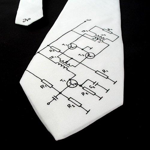 Kravata (nejen) pro elektrikáře - bílá