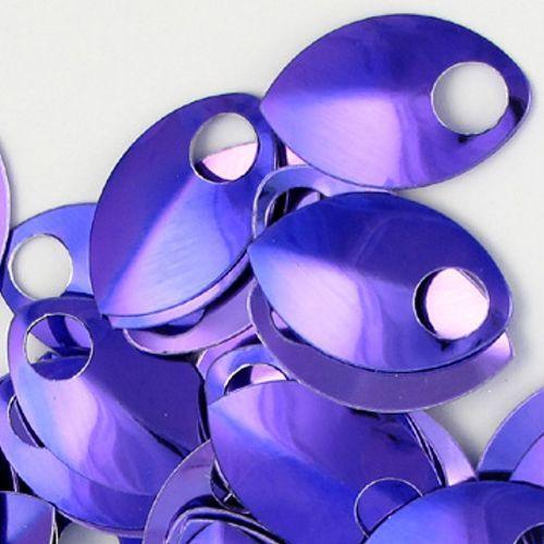 Šupiny malé - fialové lesklé 10ks