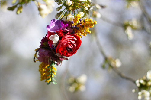 "Čelenka na gumičce \""Flower story\"""