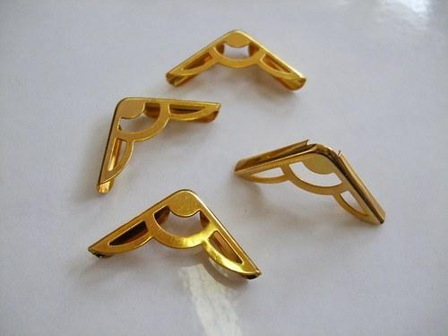 Knihařské růžky zlaté - 4ks