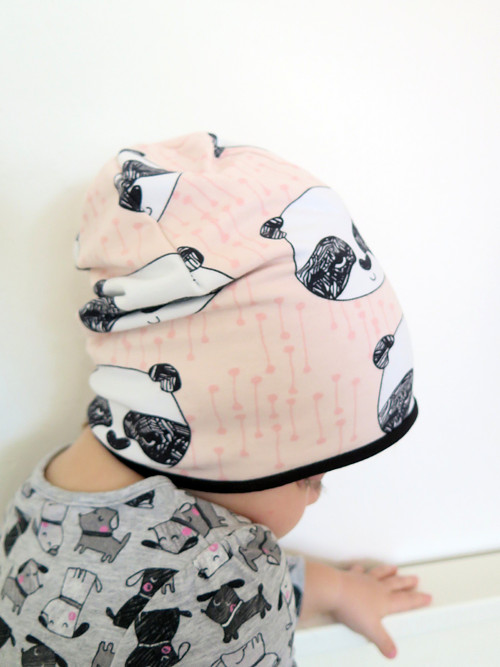čepice z biobavlny Panda růžová