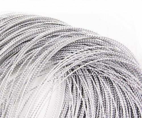 30m 98ft 32yrd Stříbrné Metalické Vlákno Kabel Twi