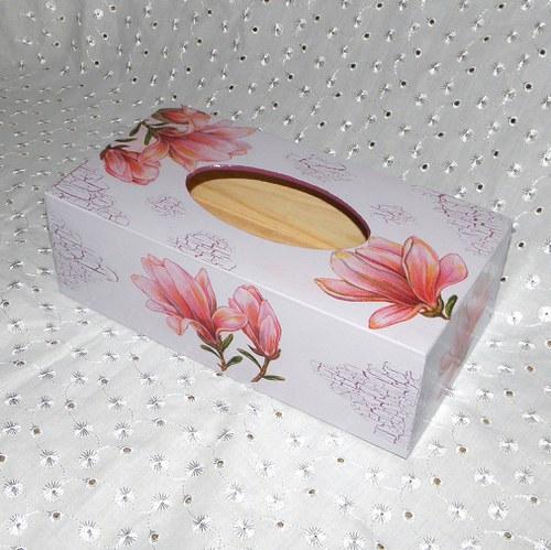 Magnoliová krabička na kapesníky