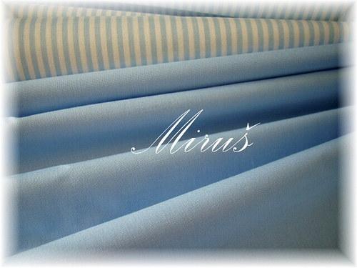 100% bavlna, metráž, látka-Sv. modrá č.1265
