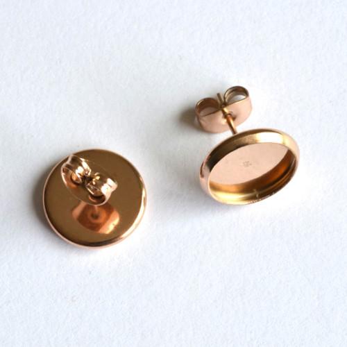 Puzety 10mm - NEREZ  - barva růžového zlata