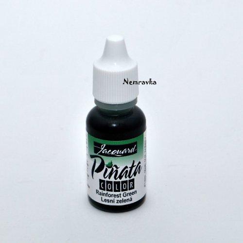 Piňata - alkoholový inkoust / Lesní zelená