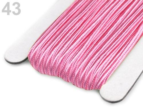 Sutaška šíře 3mm světle růžová-3metry