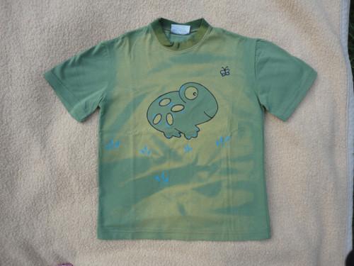 """Dětské zelené tričko \""""žabka\"""" vel. 116"""
