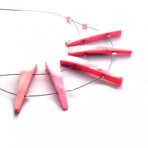 Růžové perleťové zoubky -  20% sleva!!!
