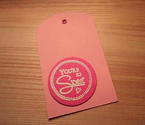 Visačky na dárky růžové YOU´RE SO SWEET - 5ks