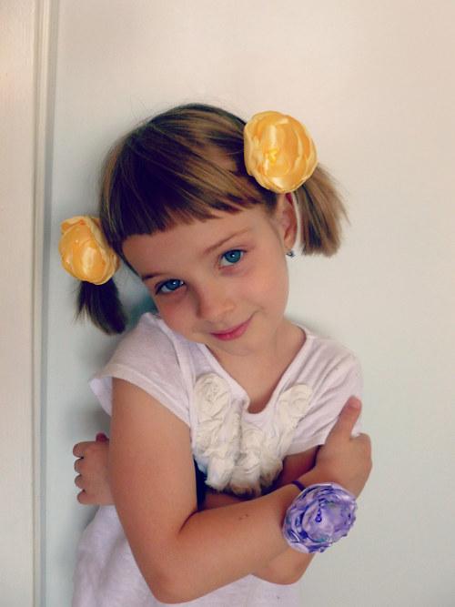 Gumička do vlasů - žlutá
