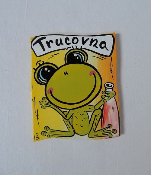 Cedulka na dveře-trucovna-žabka