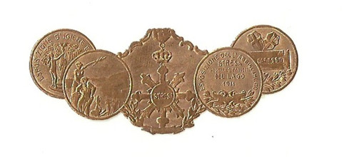 Medaile ocenění Italská výstava Del Lago 1911