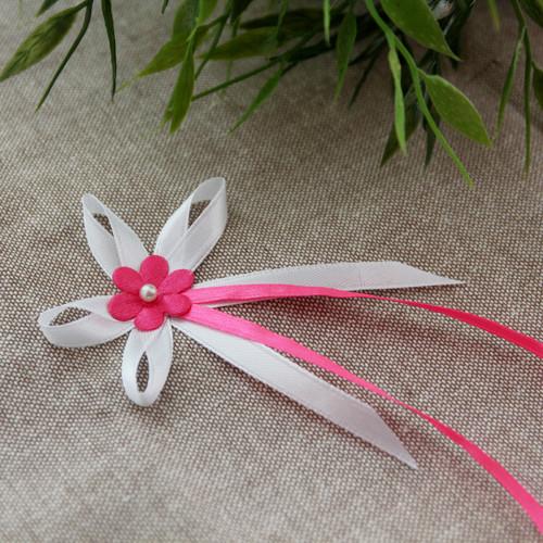 Vývazek se saténovou kytičkou ♥ růžový 3 ♥
