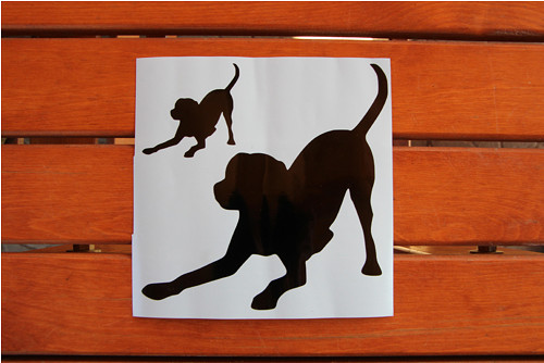 Psí samolepka - labrador