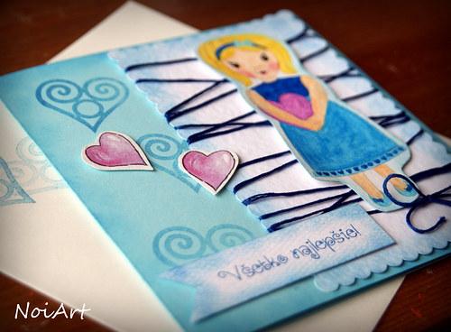 Pohľadnica - Všetko najlepšie, dievčatko 2