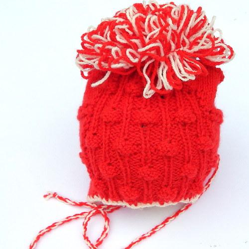 Dětská čepička - Červená