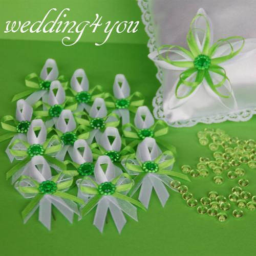Svatební ZELENÁ LUXUSNÍ = polštářek+vývazky