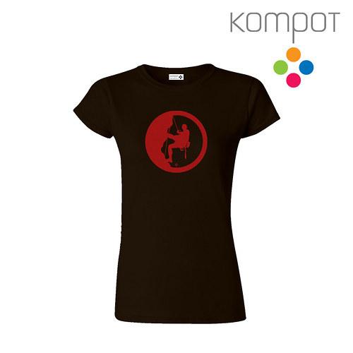 Dámské tričko HOROLEZEC :: hnědé, vel. S - XXL