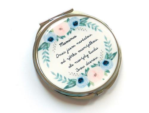 Mamince... dárkové zrcátko od nevěsty, růžičky