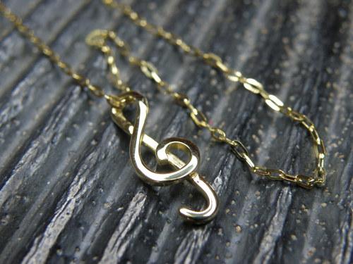 Houslový klíč-žluté zlato