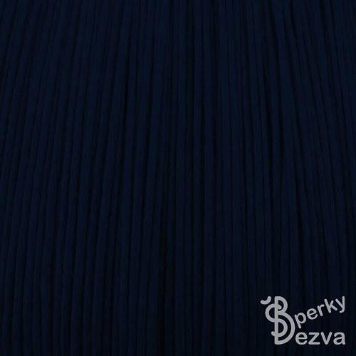 Tmavě modrá bavlněná voskovaná šňůrka, 5 m