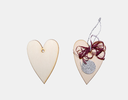 Hejno - srdce 5 x 7 cm 10 kusů
