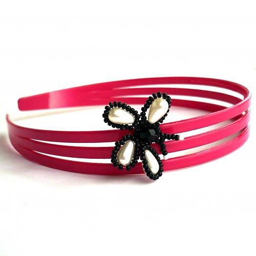 Čelenka s motýlkem růžová - 30% sleva!!!