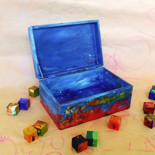 Krabice na poklady, modrá