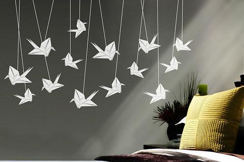 Origami jeřábi
