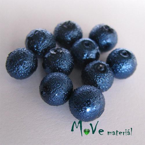 """Voskové perle \""""Zigana\"""" 8mm, 10ks, modré"""