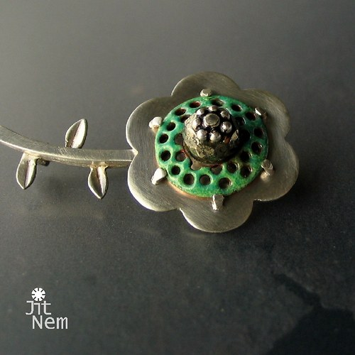 Tropický květ s pyritem ::ag925::