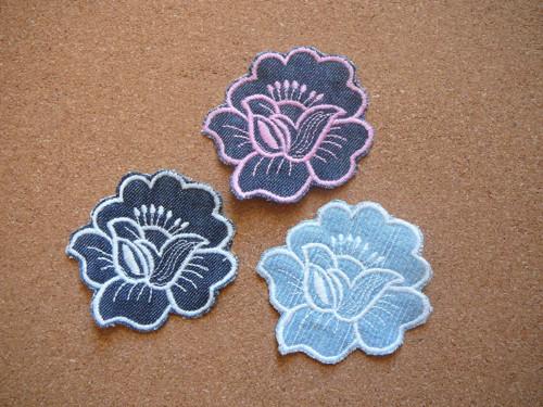 Nášivka riflový květ