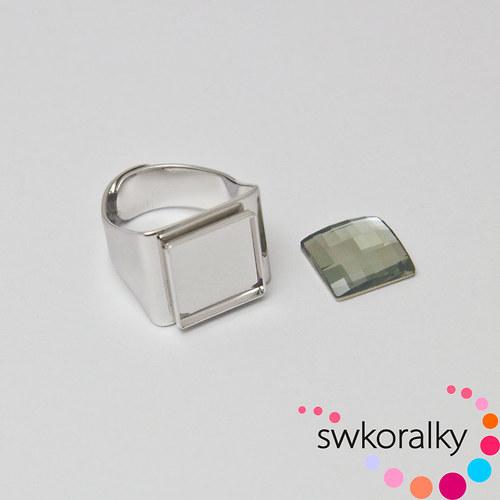 Prsten na CHESSBOARD kámen 12 SWAROVSKI ® ELEMENTS