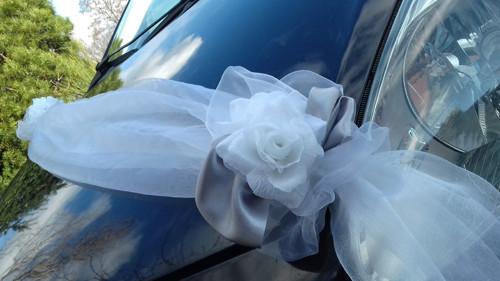 Svatební dekorace,výzdoba na auto ŠERPA