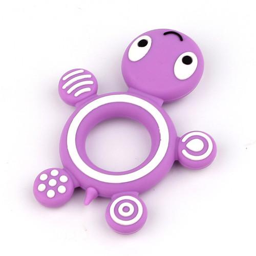 Světle fialová želvička - silikonové kousátko