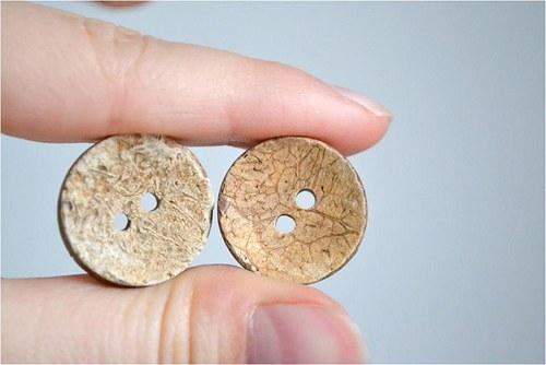 Kokosový knoflík 20mm, 1 kus