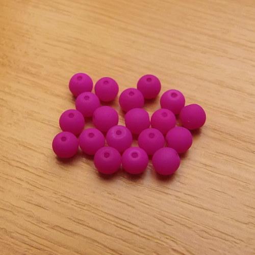 Neonové kuličky 6mm - fialové
