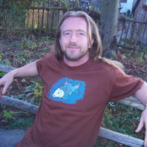 Tričko s kapříkem - hnědé