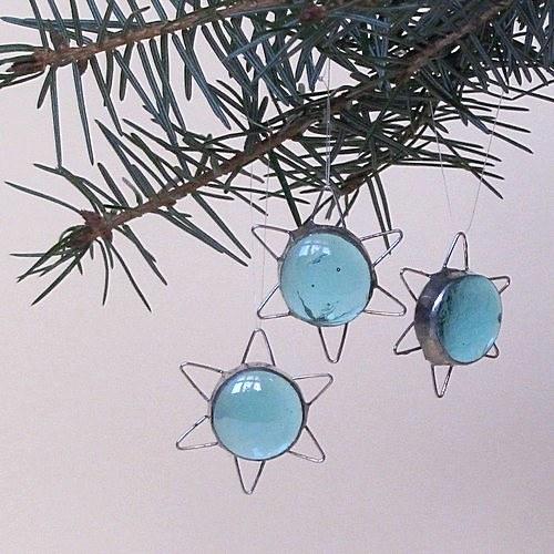 Vianočné dekorácie - Tyrkýsová hviezdička