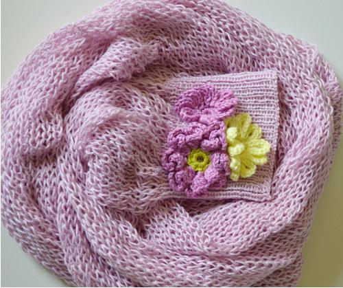 Bolerko - rukávky: Věneček květů