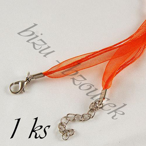 Oranžový náhrdelník - 1ks