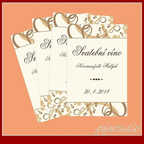 Etiketka na svatební víno NO_6