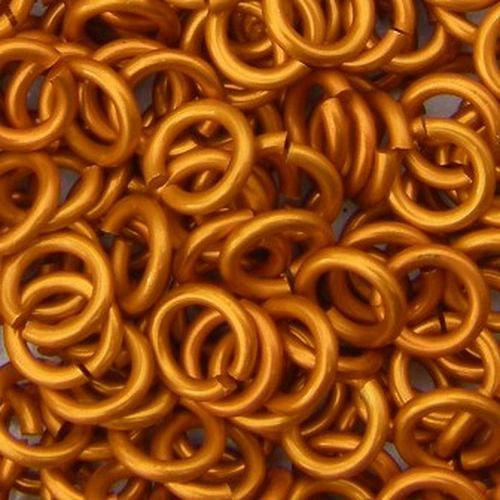 kroužky eloxovaný hliník 5/1,2 oranžová 100ks
