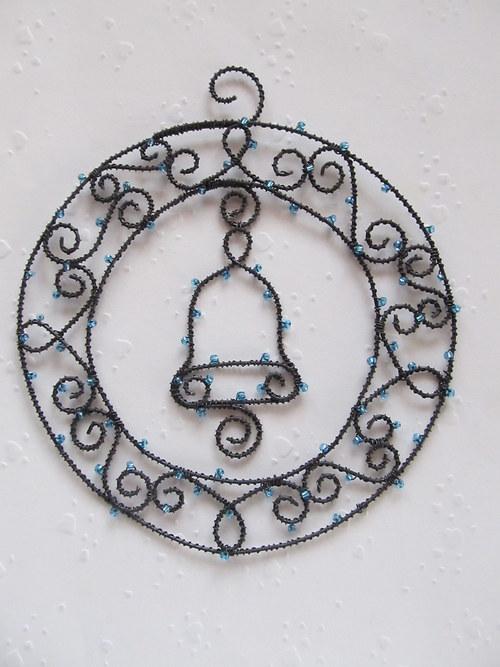 Věneček se zvonkem - modrý