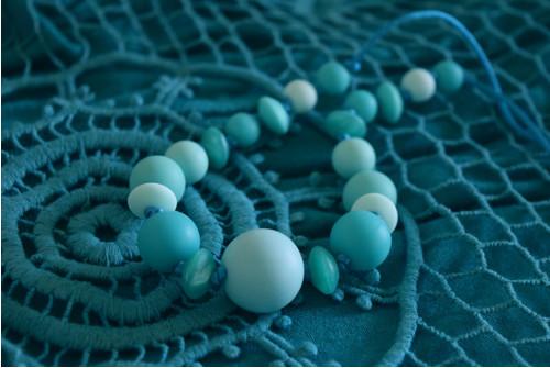silikonové korálky - náhrdelník pro maminky