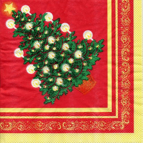 Ubrousek s vánočním stromkem