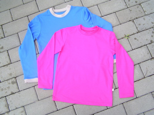 Tričko jednobarevné s dlouhým rukávem v.110-122