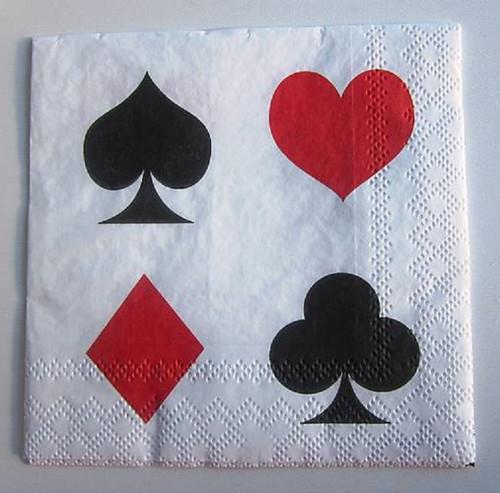 Ubrousek vzor karetní symboly velké